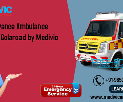 Get an Advanced Ambulance Service in Golaroad by Medivic